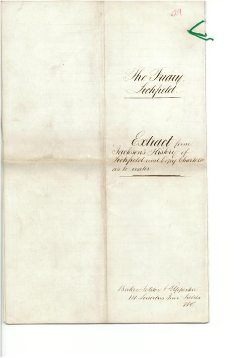 "Jackson History of Lichfield ""The Friary"""
