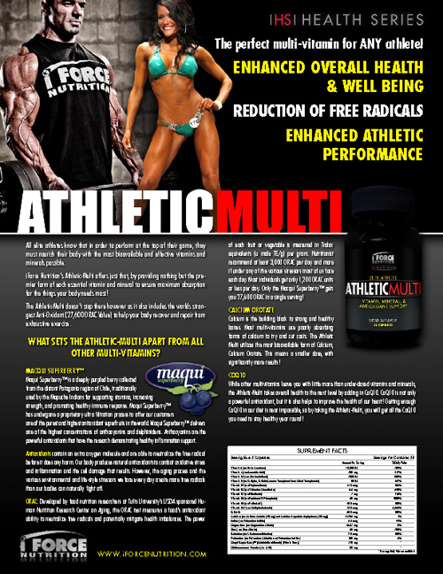 iForce Nutrition Sales Sheets