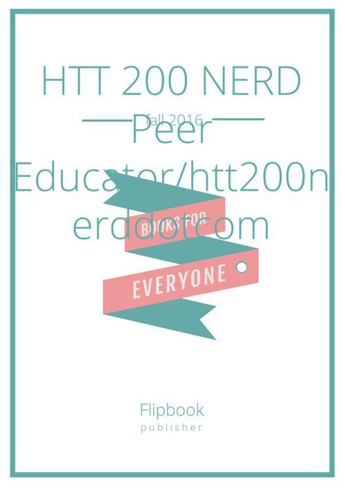 HTT 200 NERD Peer Educator/htt200nerddotcom