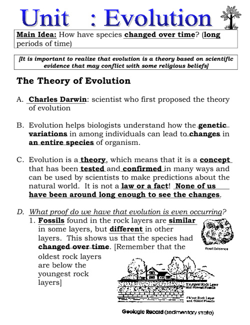 Evolution Notes (filled in)