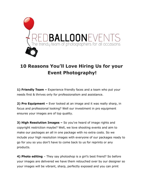Copy of 10 Reasons You'll Love Our Events Photography