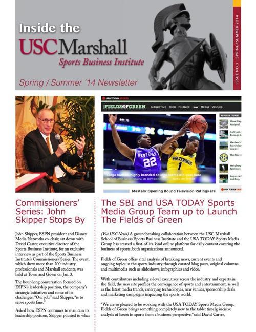 SBI Newsletter - Spring/Summer 2014