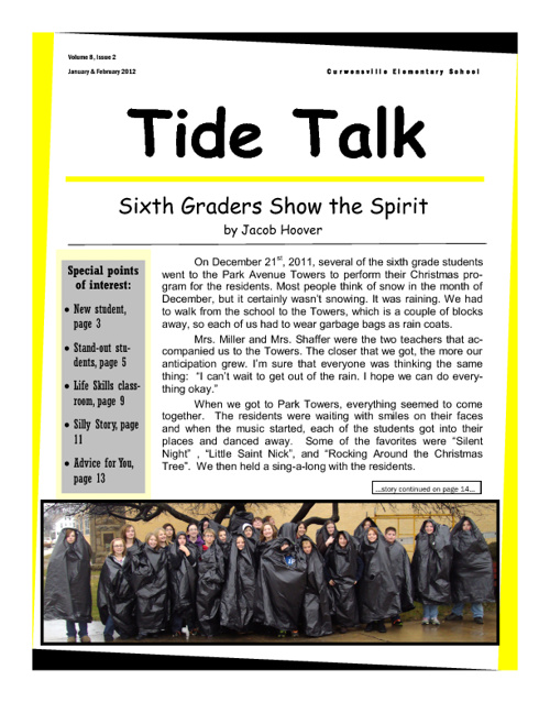 January/February 2012 TIDE TALK