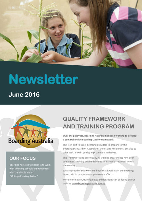 Boarding Australia June 2016 Newsletter