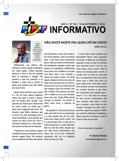 INFORMATIVO PIBJF 18.09.2016