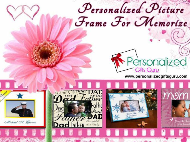 Personalized Picture Frame To Remember Occasion