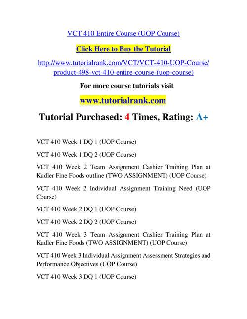 VCT 410 Slingshot Academy / Tutorialrank.Com