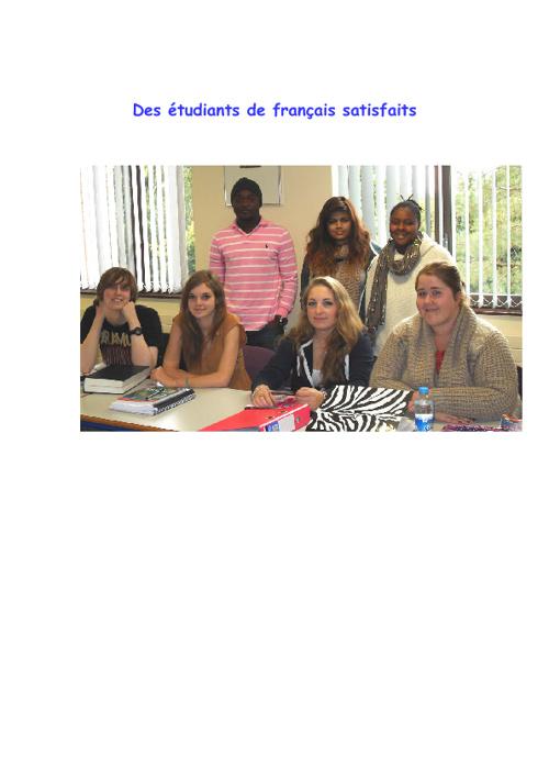 groupes d'étudiants de français
