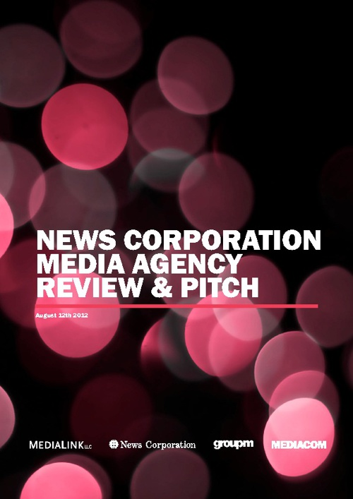 MediaCom News Corp. Media Agency Review & Pitch