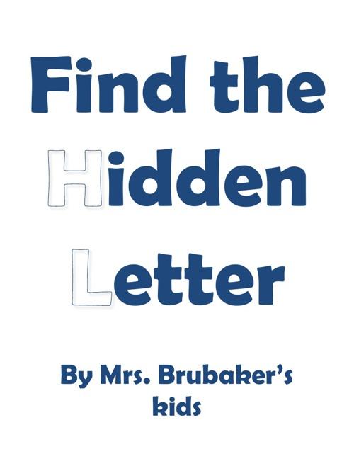 MD Brubaker hidden letter book 2012-2013