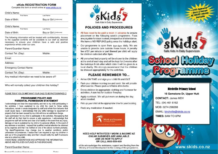 SKIDs Holiday Programme for term 2 holidays