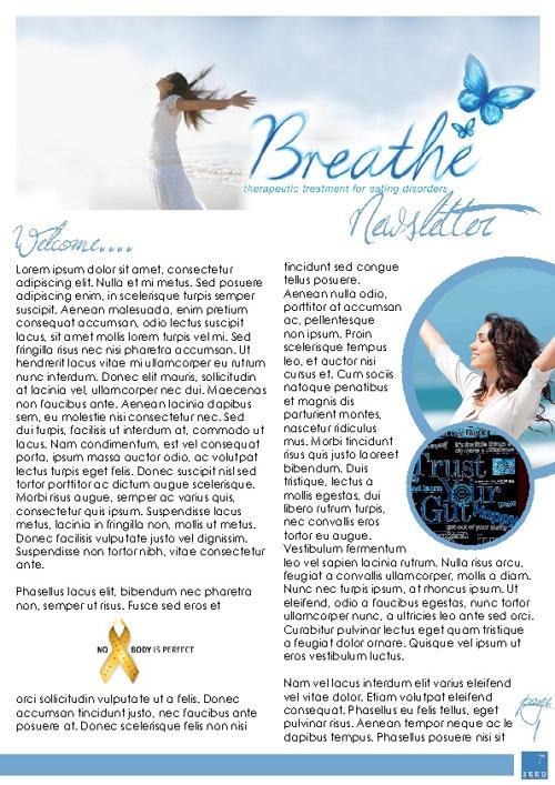 Breathe Newsletter Template