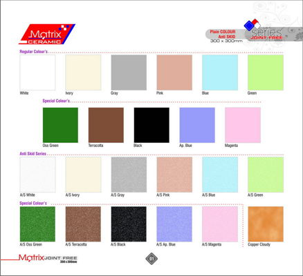 Digital Floor Tiles 12x12 - Joint Free 300x300mm