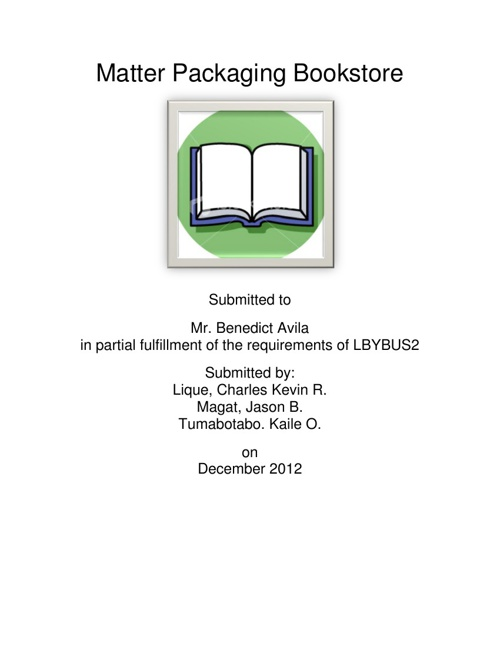Matter Packaging Bookstore