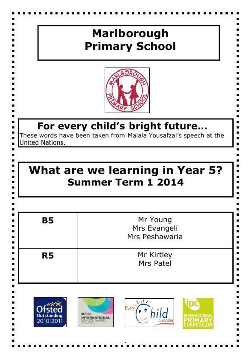 Y5 curriculum letter 2014 summer 1 EDITED