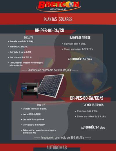 PLANTAS DE ENERGÍA SOLARES AUTÓNOMAS BRETCON