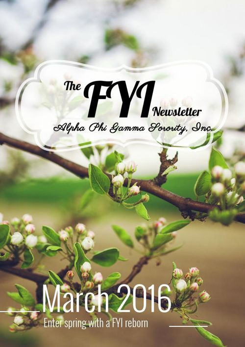 The F.Y.I. Newsletter - March 2016