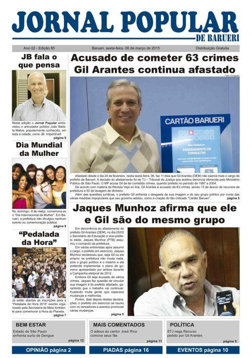 85ª edição do Jornal Popular de Barueri