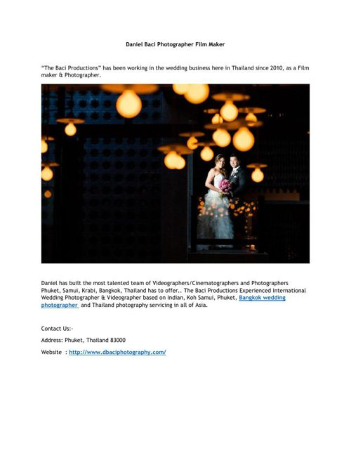 Best Wedding Photographer in Bangkok