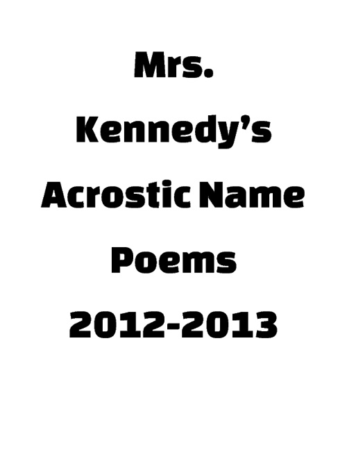 Kennedy's Name Posters