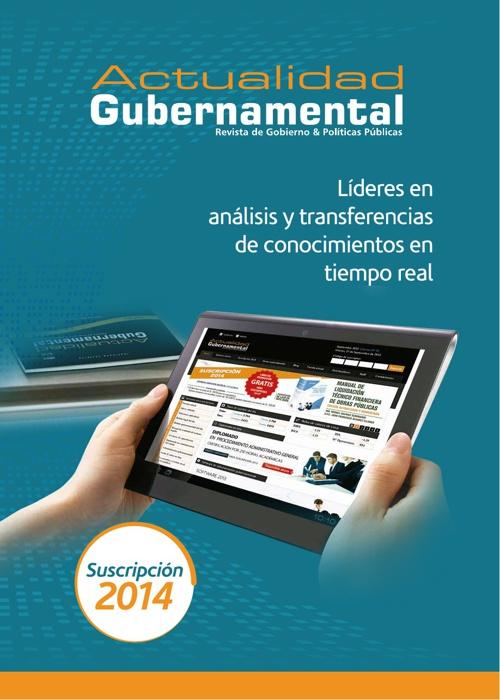 Revista Actualidad Gubernamental - Brochure 2014