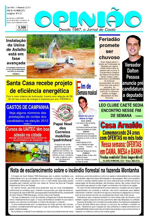 Jornal Opinião - Caeté / Mg