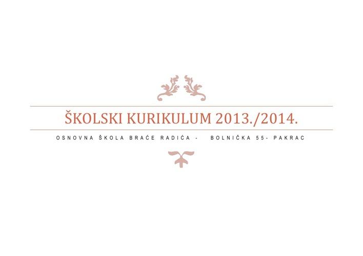 Školski kurikulum 2013./2014.