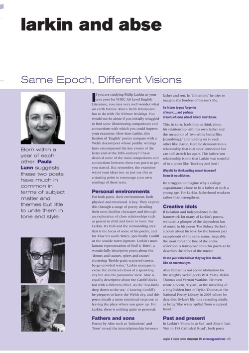 E-mag article - Larkin and Abse