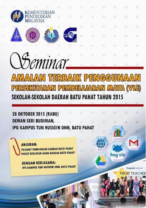 Buku Program Seminar VLE Daerah Batu Pahat 2015