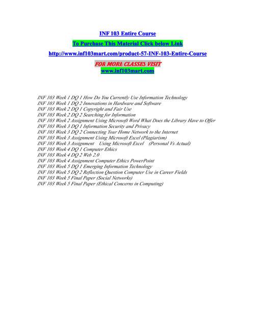 inf 103 mart Inspiring Minds/inf103martdotcom