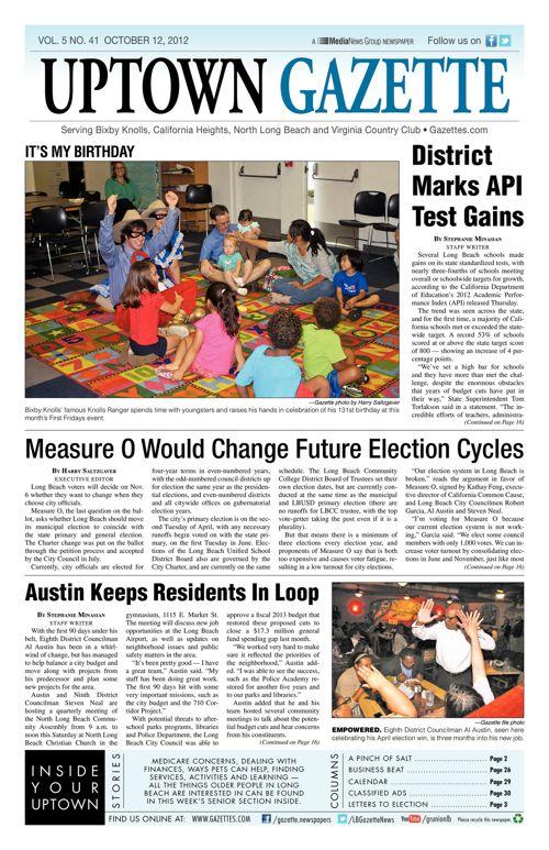 Uptown Gazette  |  October 12, 2012