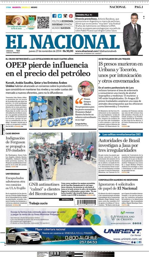 Diario El Nacional - Caracas, Venezuela