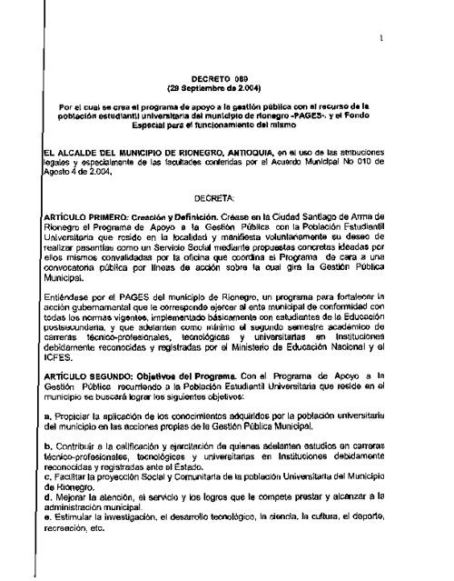 Decreto 089