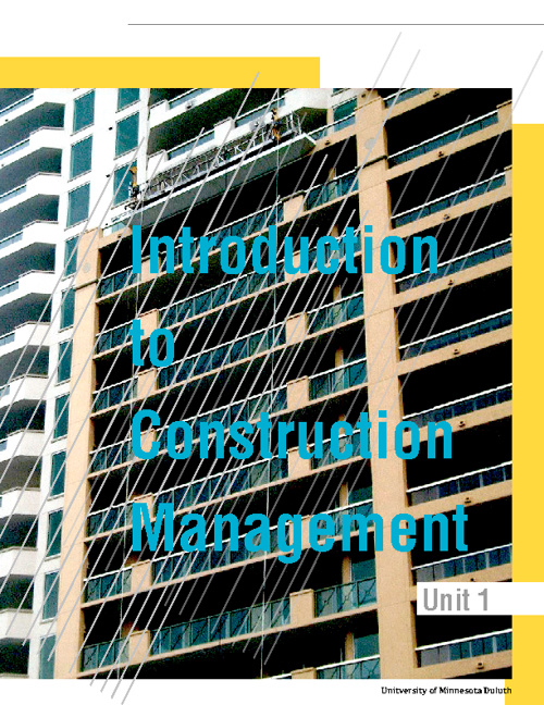 Unit 1 Construction Project Managment