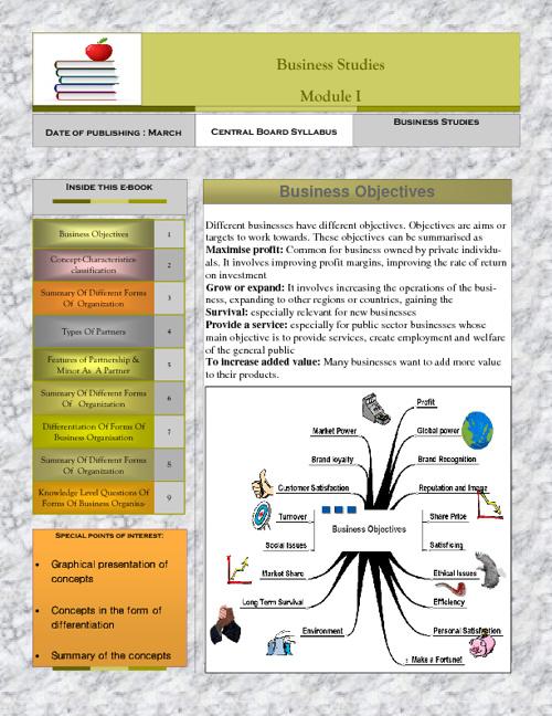 Business Studies - Module I