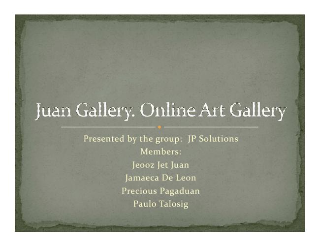 JuanGallery.com - Online Art Gallery