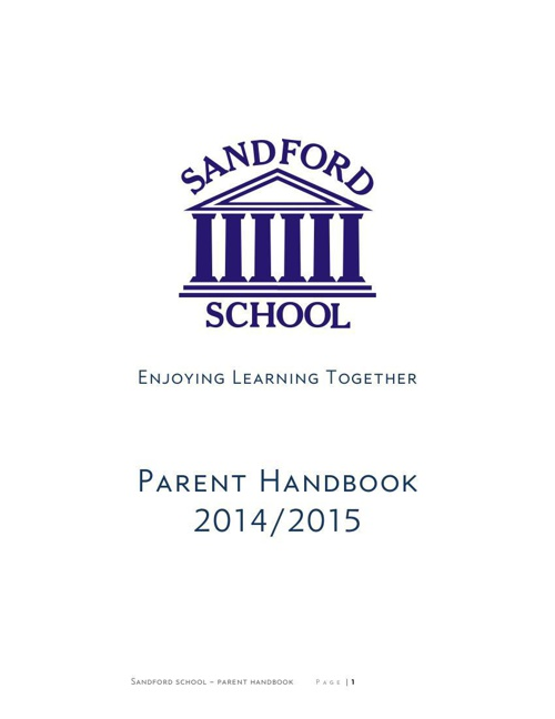 Sandford School Parent Handbook 2015