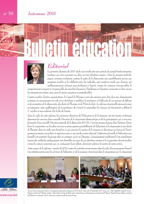 Council of Europe Education Newsletter FR