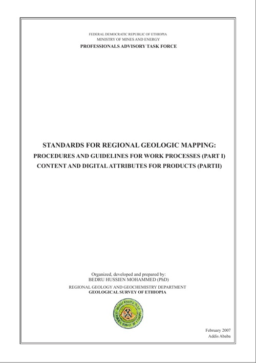 STANDARDS FOR REGIONAL GEOLOGIC MAPPING: