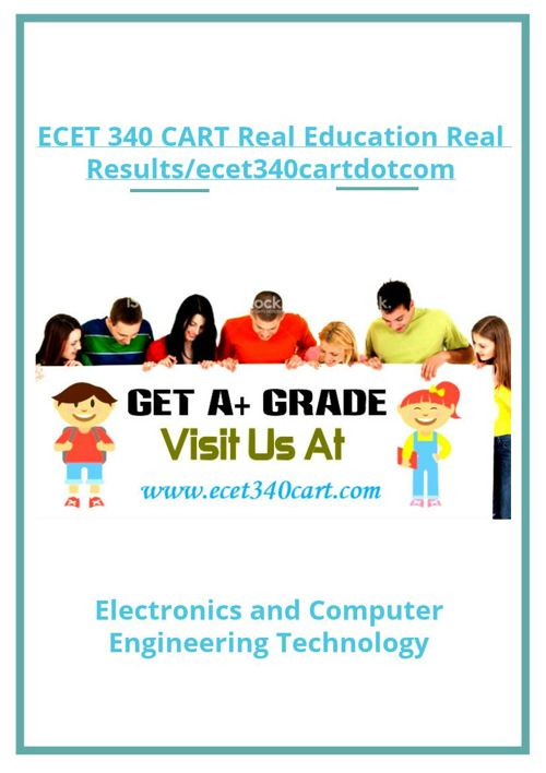 ECET 340 CART Real Education Real Results/ecet340cartdotcom