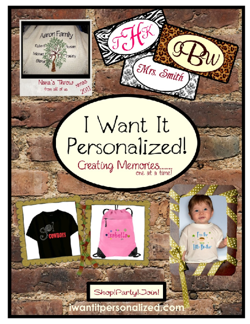 I Want It Personalized! Catalog