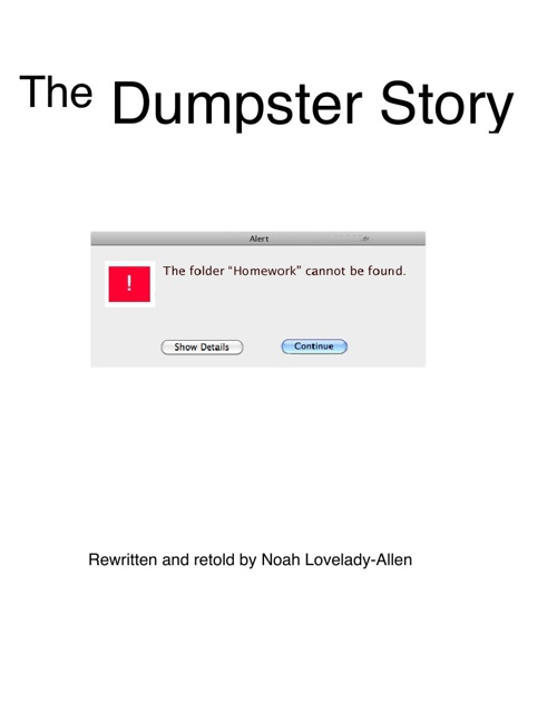 Dumpster Story Website Edition