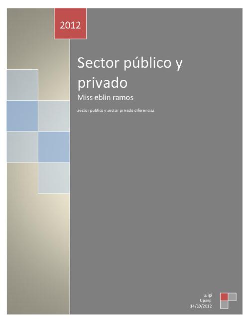 Sector publico y sector privado