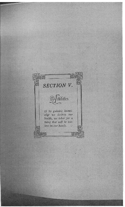 OHS 1916 Yearbook - Athletics