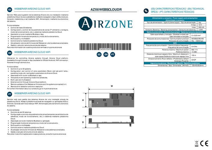 airzone-webserver-caracteristiques