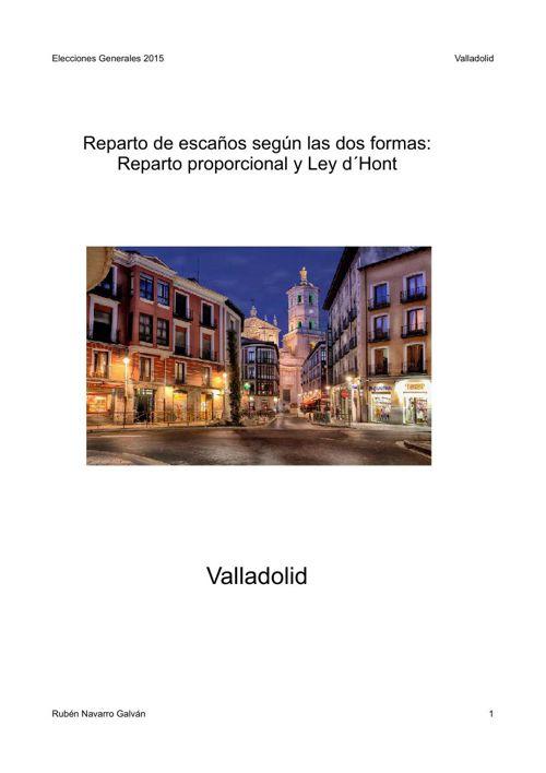 Elecciones Generales 2015: Valladolid