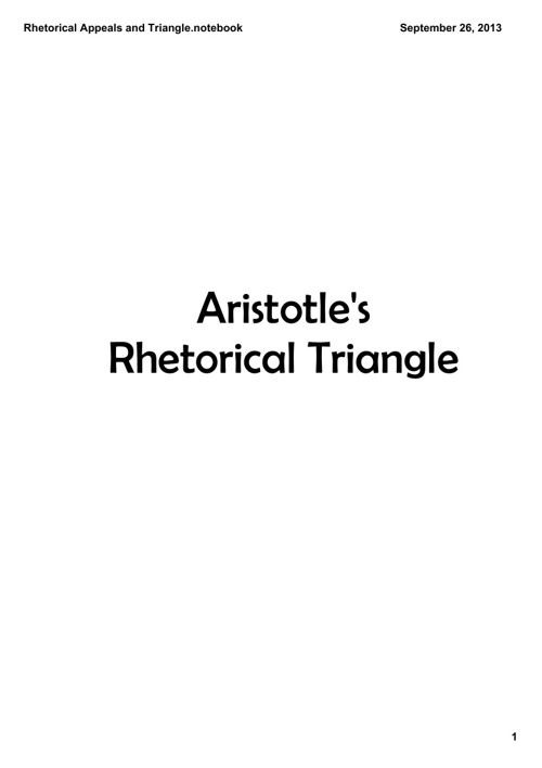 Rhetorical Appeals and Triangle