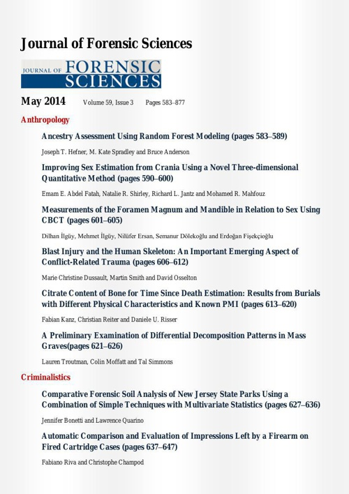 Journal of Forensic Sciences_May