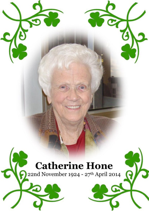 4 Order of Service for Catherine Hone