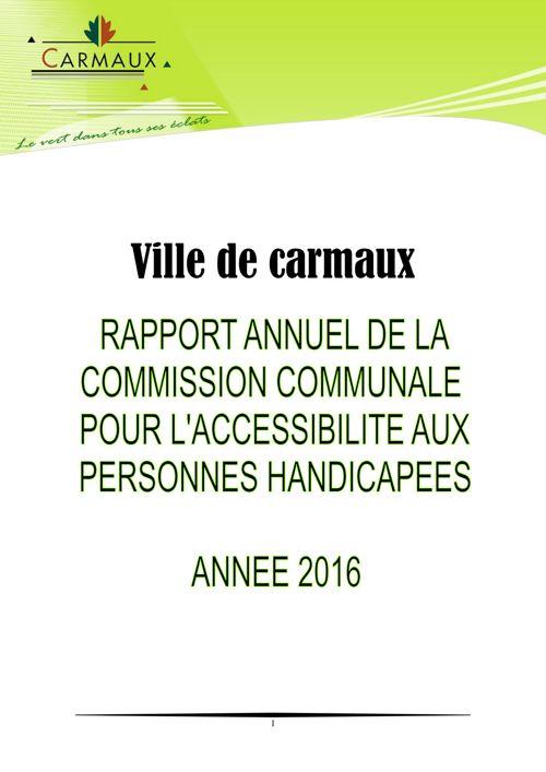 Rapport 2016 - L'accessibilité à Carmaux